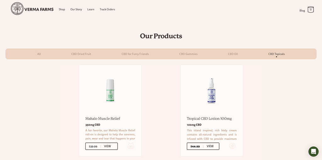 Verma Farms Topical Products