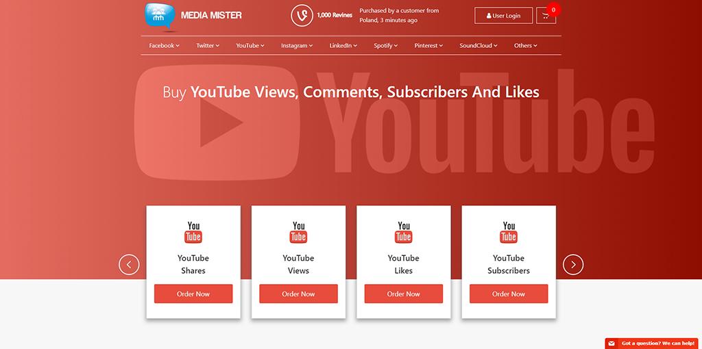 Media Mister - Buy Youtube Views