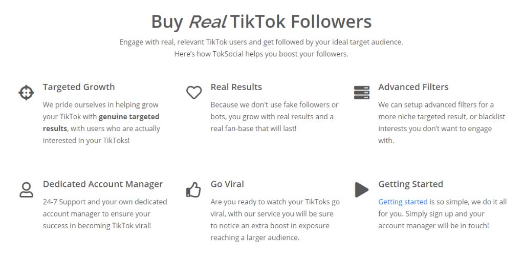 TokSocial Features