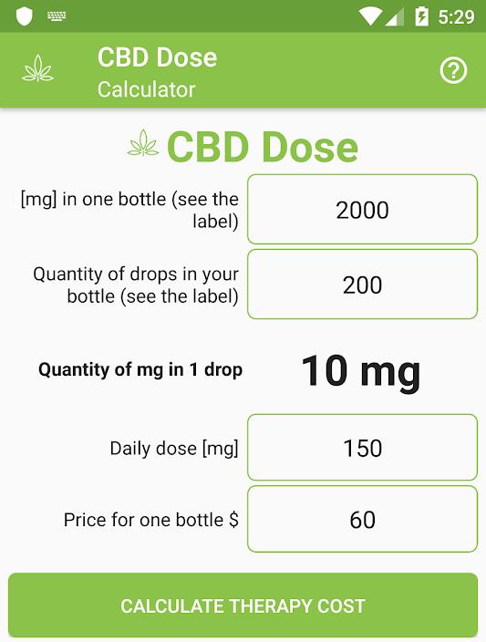 CBD Dose Calculator 1