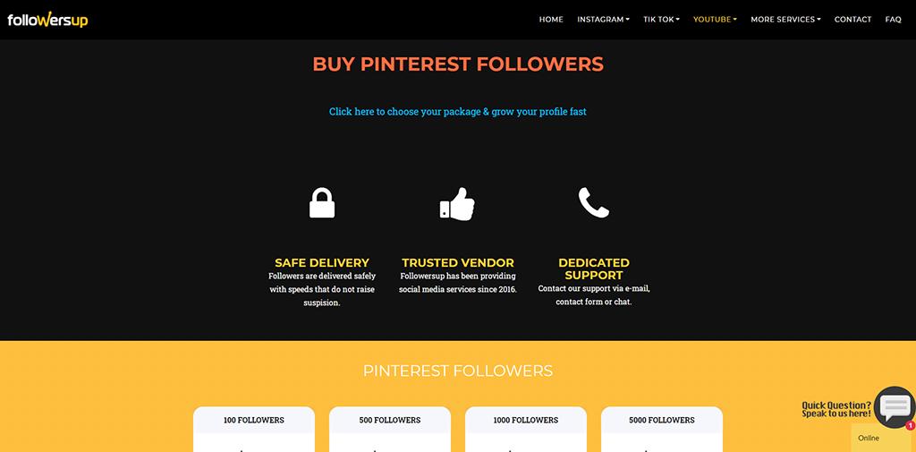 Followersup Pinterest
