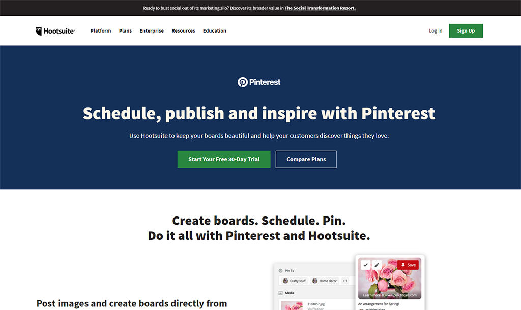 Hootsuite Pinterest