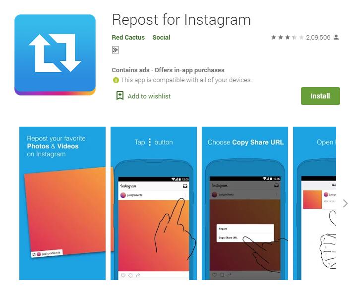 Instagram Repost App
