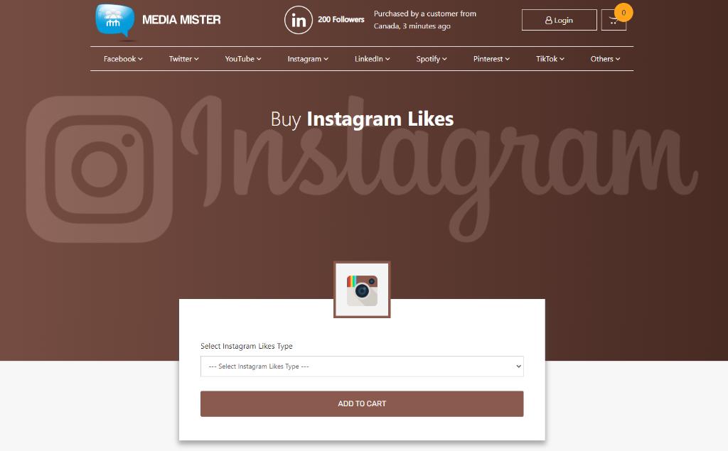 Media Mister Instagram Likes