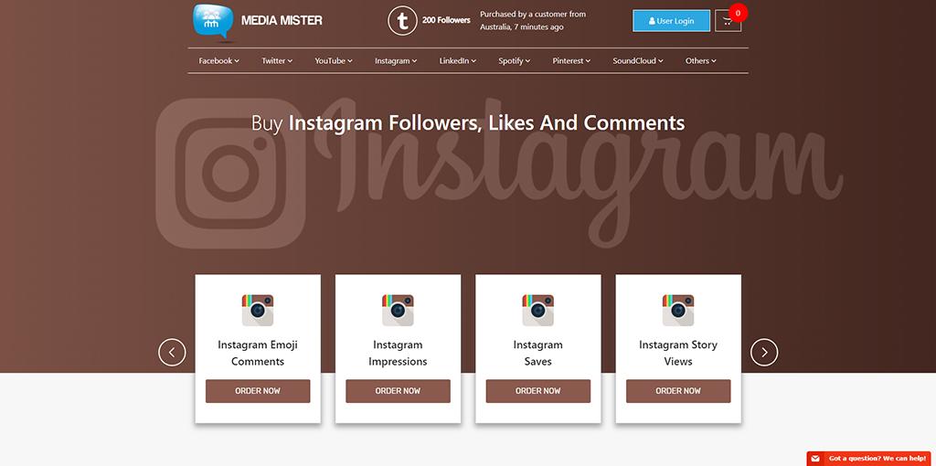 Media Mister - Buy Instagram Followers