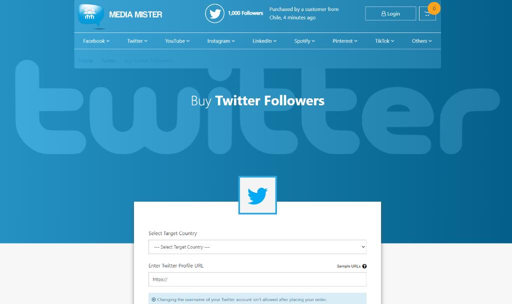 Media Mister Twitter Followers