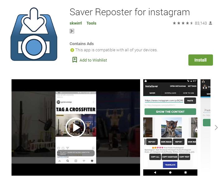 Saver Reposter