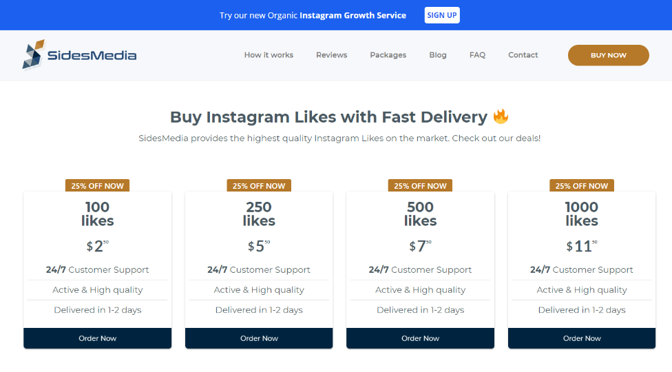 SidesMedia Instagram Likes