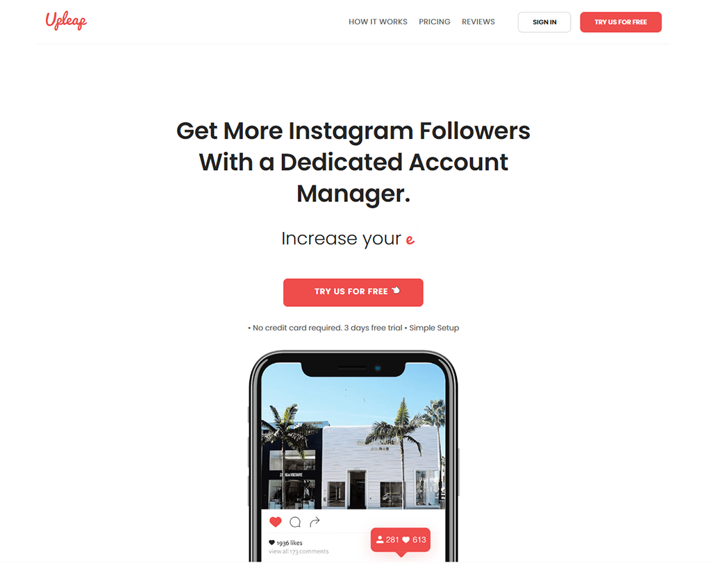 Upleap - Instagram marketing service