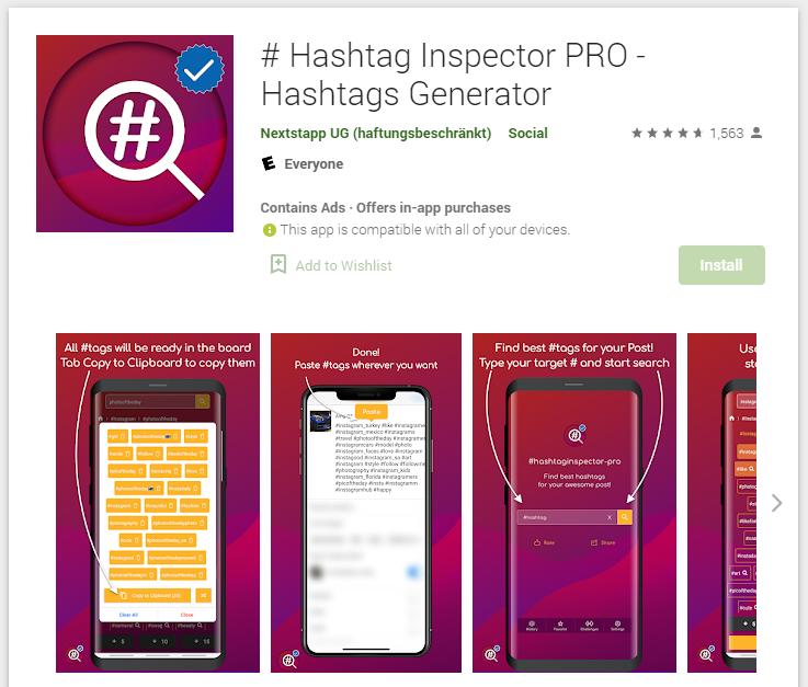 Hashtag Inspector