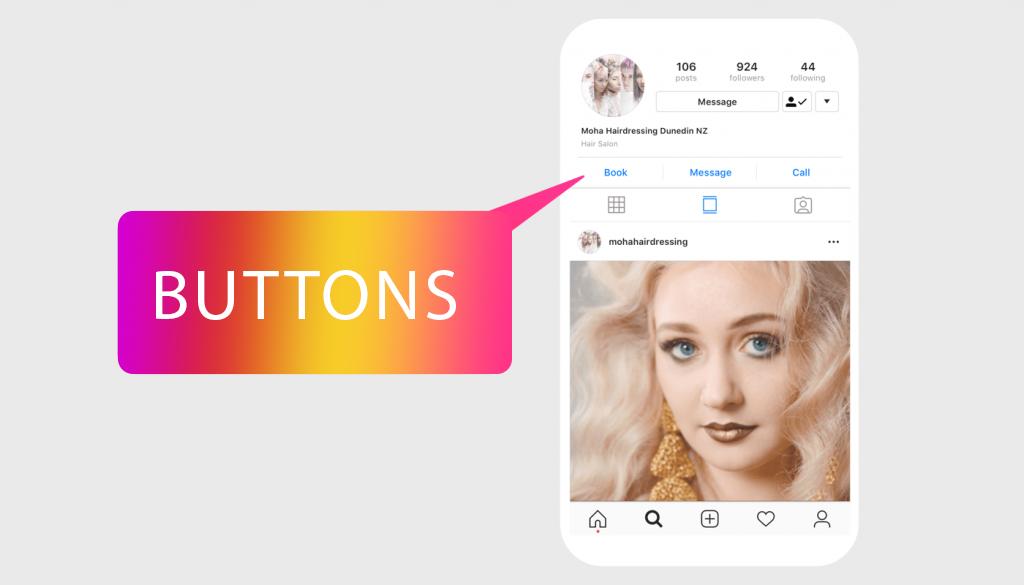 Instagram-Buttons