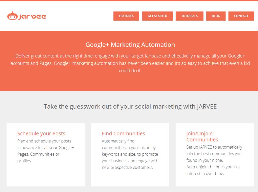 Jarvee Google+ Marketing Automation