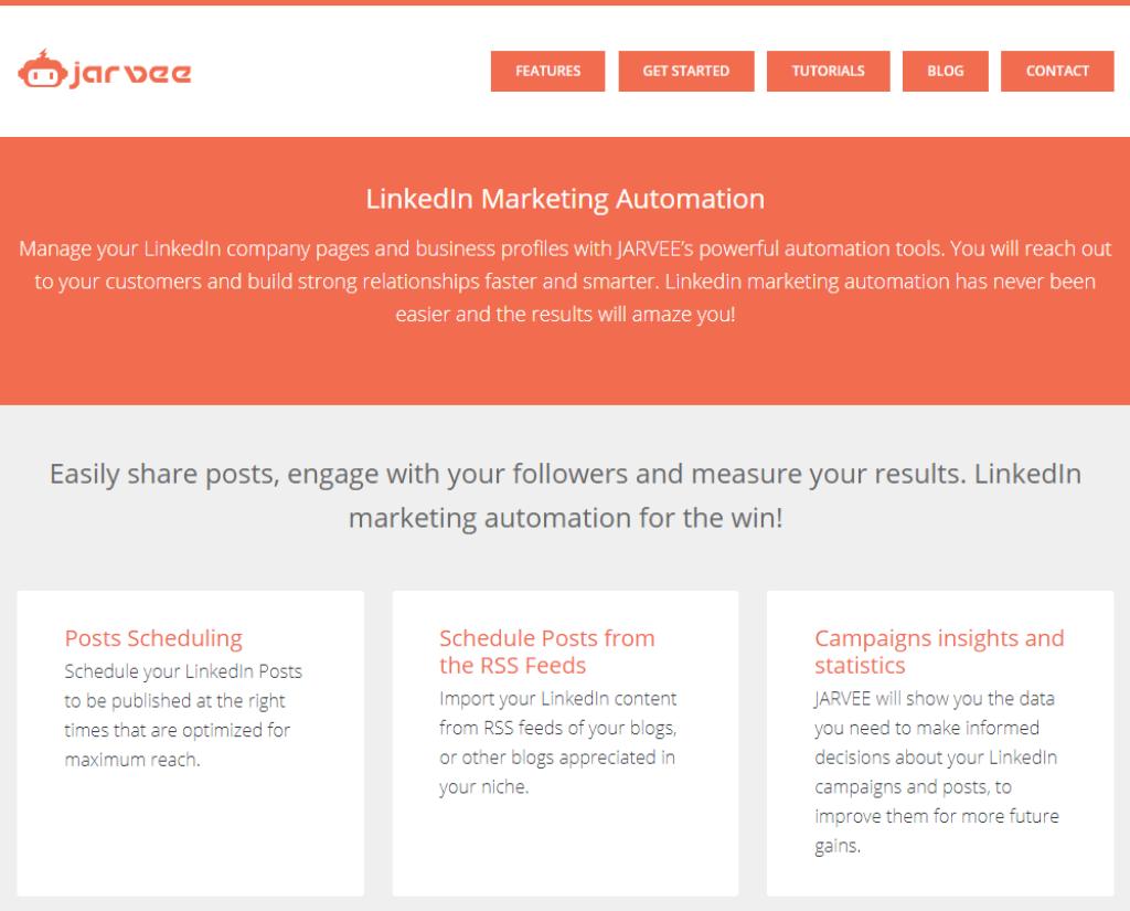 Jarvee LinkedIn Marketing Automation