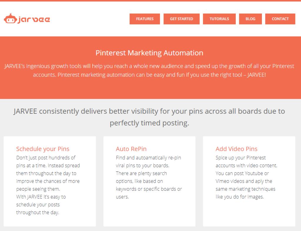 Jarvee Pinterest Marketing Automation