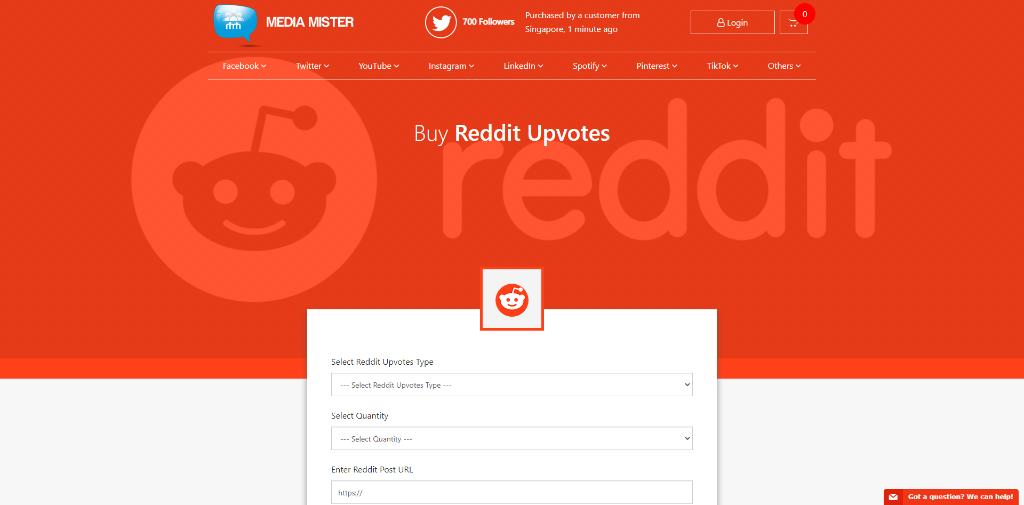 Media Mister - Buy Reddit Upvotes & Downvotes