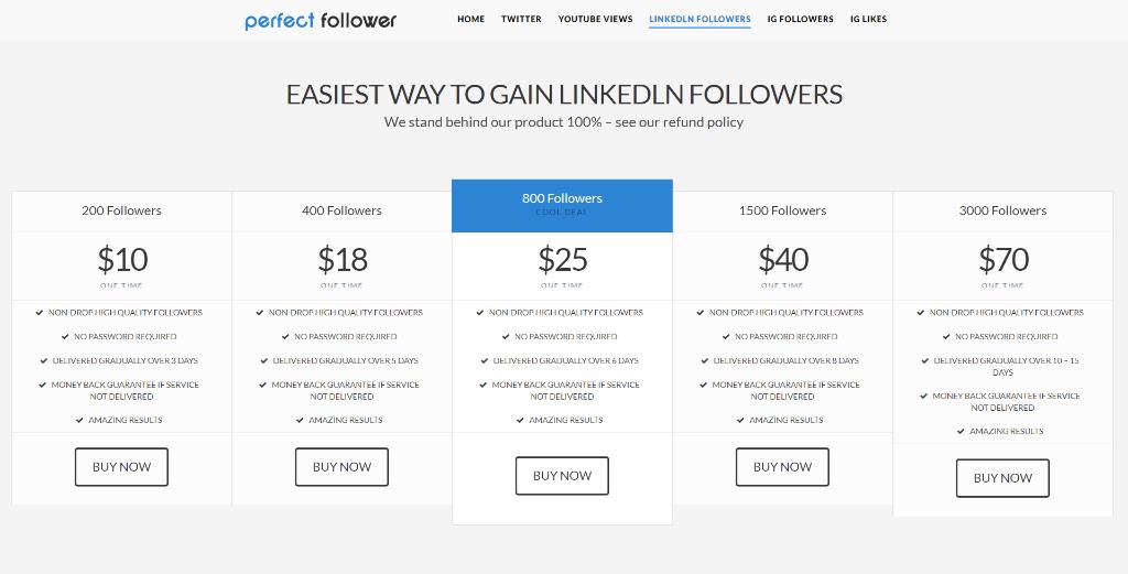 Perfect Follower LinkedIn