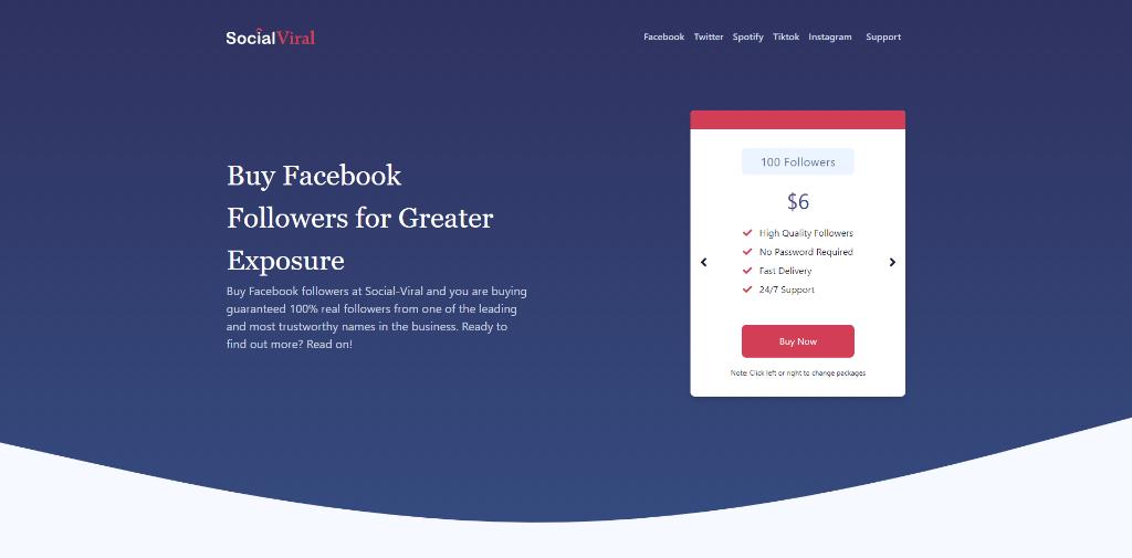 SocialViral - Buy Facebook Likes, Followers & Views