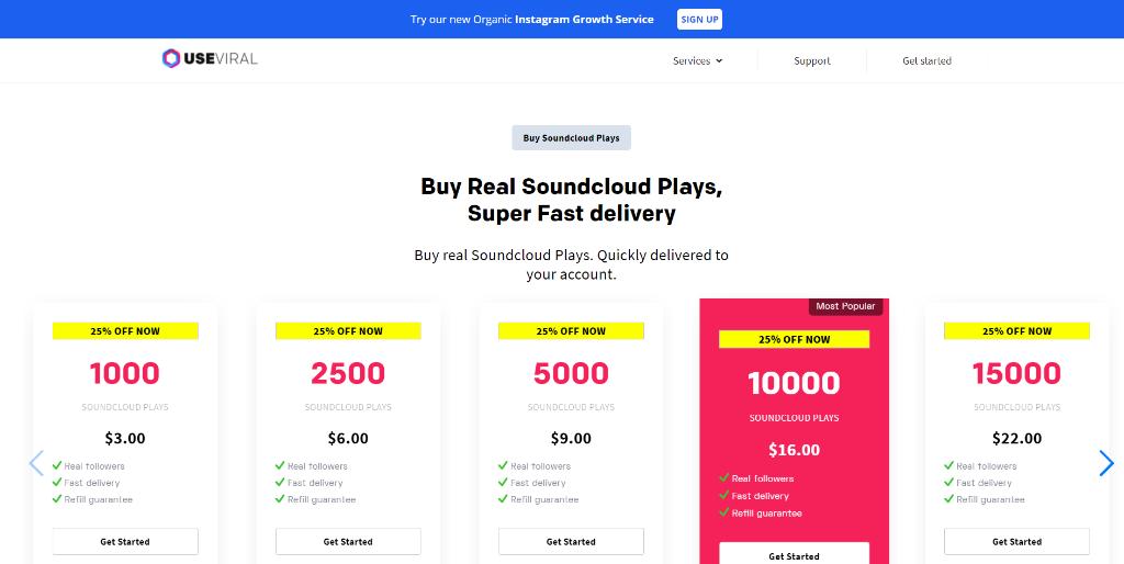 UseViral Soundcloud Plays