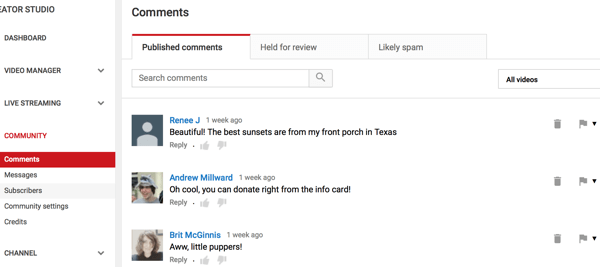 Comments Review