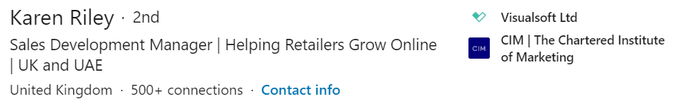 LinkedIn Headline Example 1