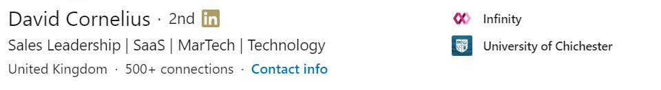 LinkedIn Headline Example 3