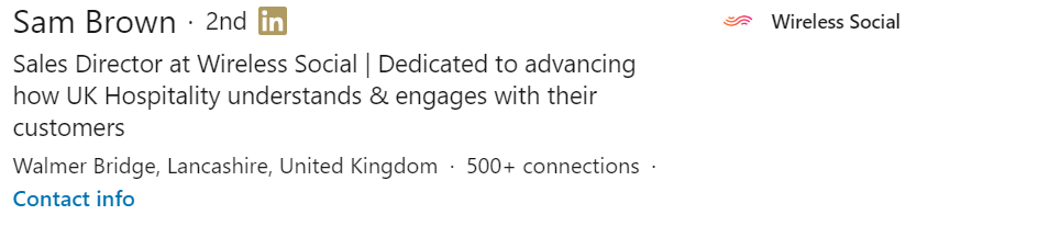 LinkedIn Headline Example 4