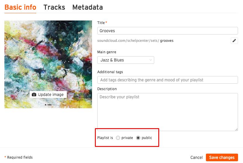 Make Playlists Private on SoundCloud