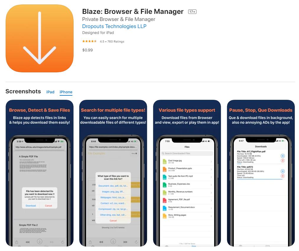 blaze browser & file manager