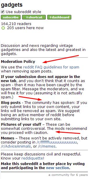 moderation policies