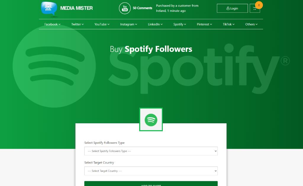 Media Mister Spotify Followers