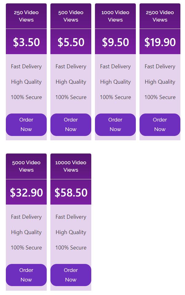 ProViewers Views Pricing