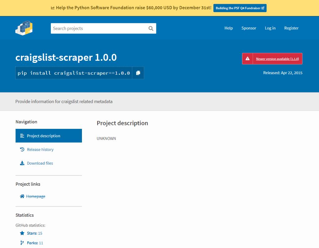 Python Craigslist Scraper