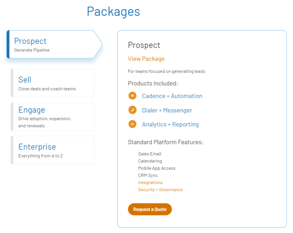 SalesLoft Pricing