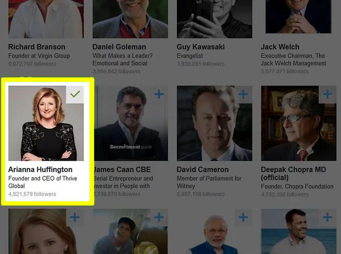 Select LinkedIn profiles