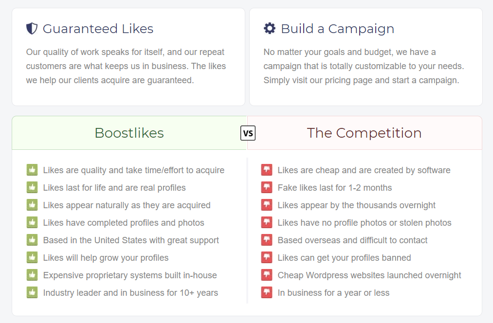 BoostLikes Services
