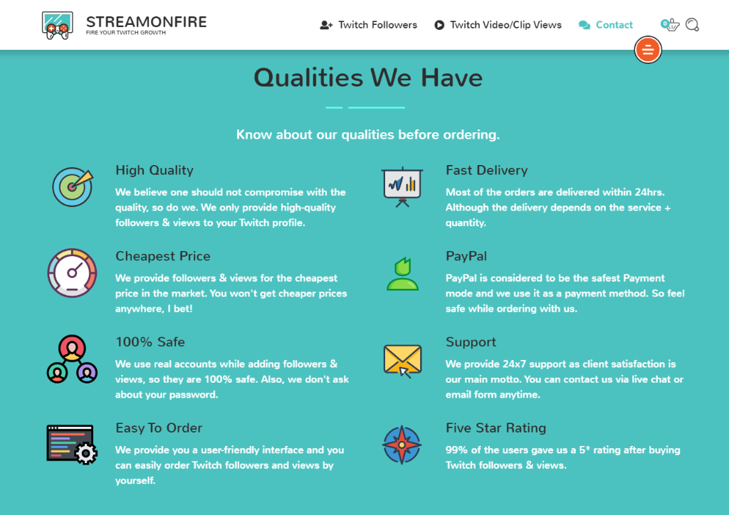 StreamOnFire Qualities