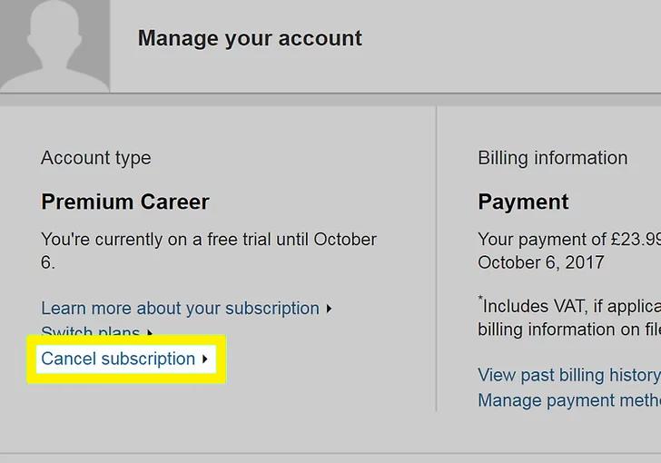 cancel subscription'