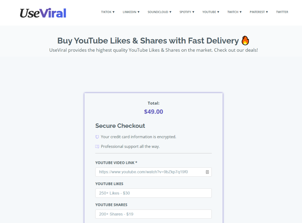 UseViral YouTube Likes & Shares