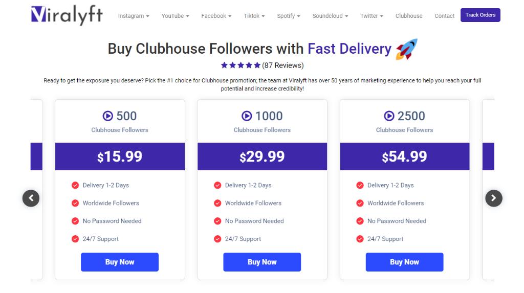 Viralyft Clubhouse Followers