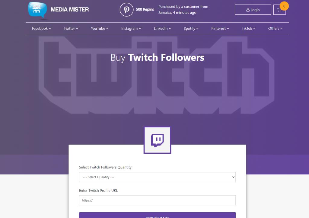 Media Mister Twitch Followers