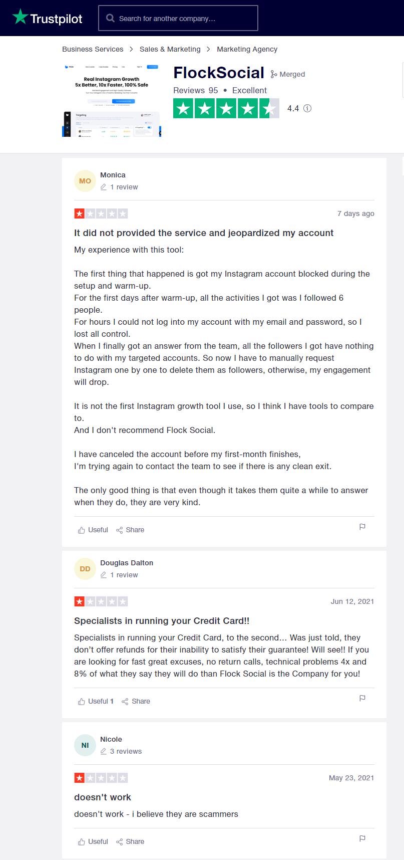 Flock Social Trustpilot Reviews