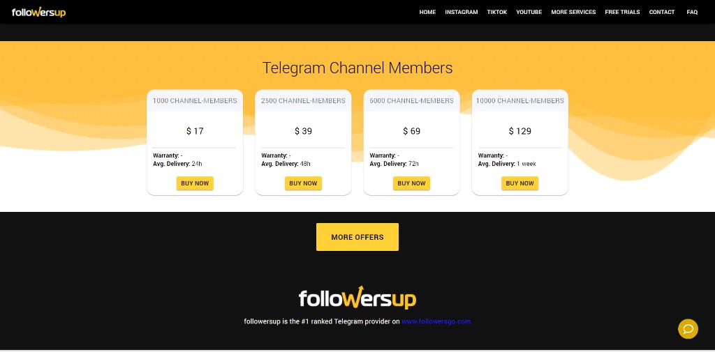 Followersup Telegram Members