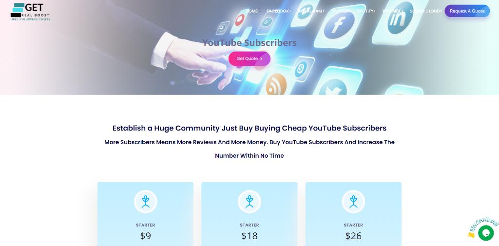 GetRealBoost YouTube Subscribers