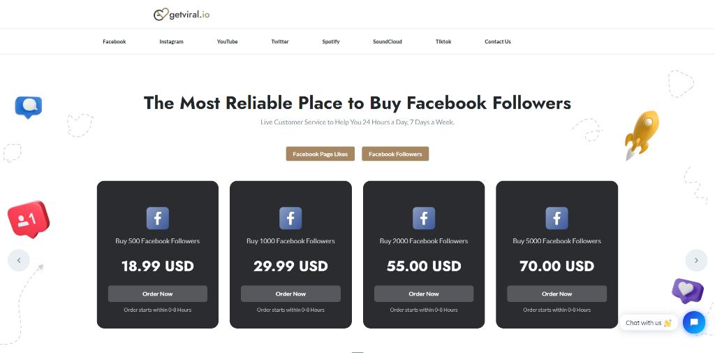 GetViral.io Facebook Followers