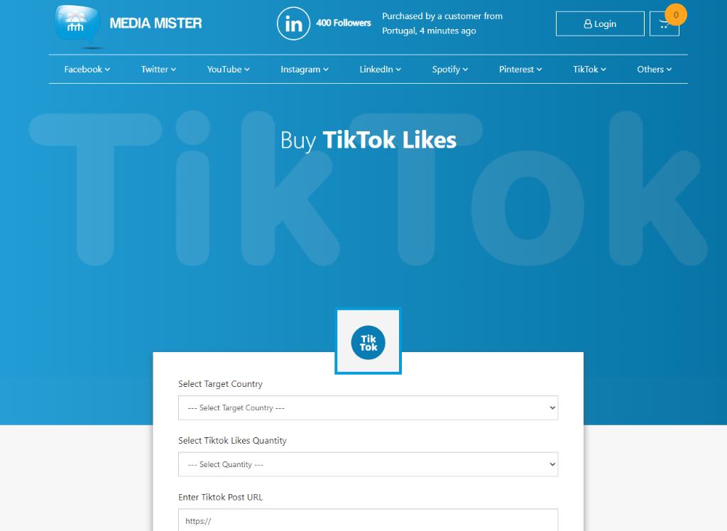 Media Mister TikTok Likes