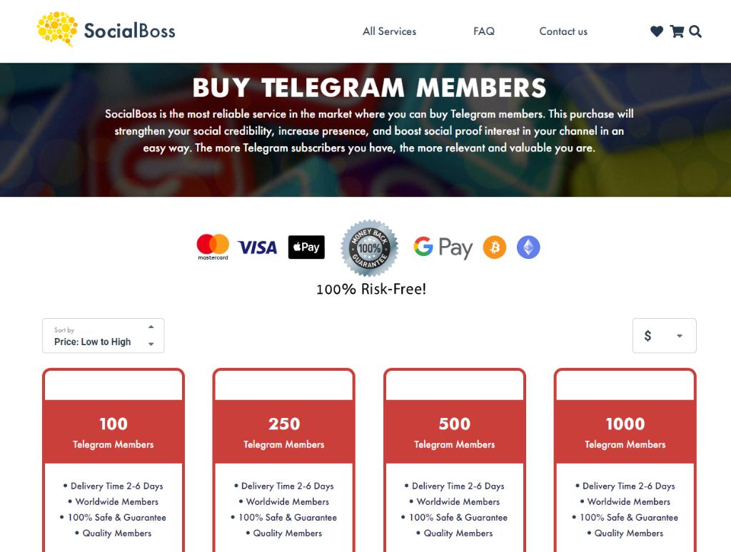 Social Boss Telegram Members