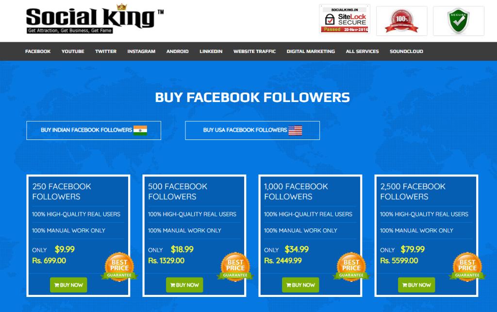 Social King Facebook Followers