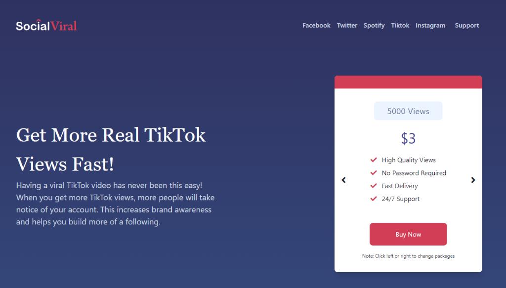 SocialViral TikTok Views