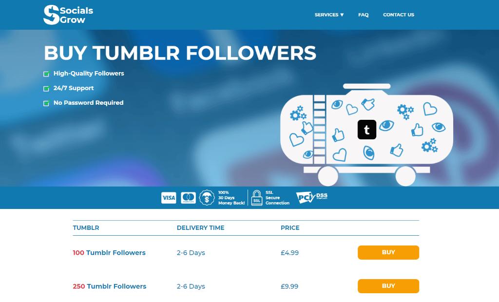 Socials Grow Tumblr Followers