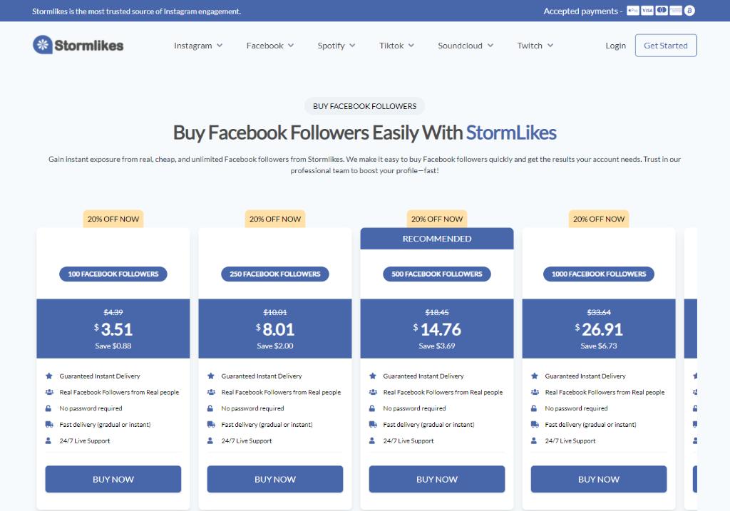 Stormlikes Facebook Followers